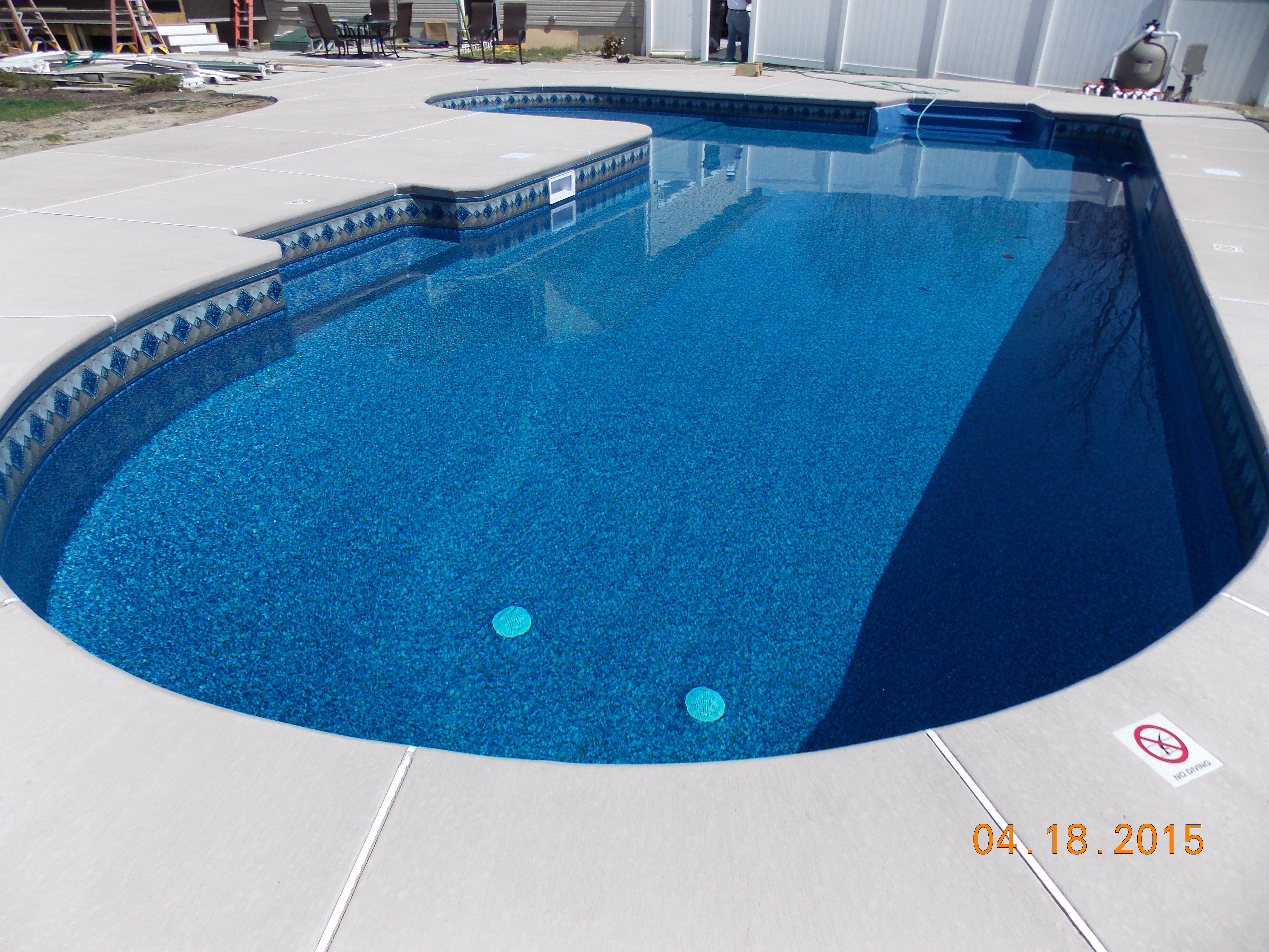 Vinyl Liner Inground Pool Sales Construction Installation Paradise Pool And Spa Serving South Jersey